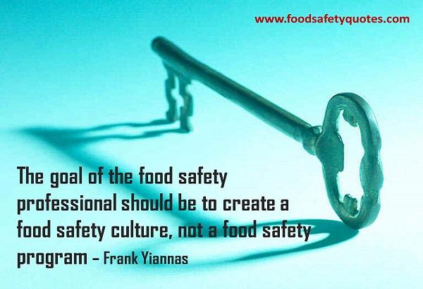 cultura de segurança dos alimentos